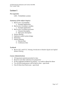 Lecture 1 Pre-requisites Summary of the subject (topics)