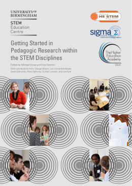 Getting Started in Pedagogic Research within the STEM Disciplines