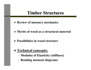 Timber Structures Technical concepts: Review of masonry mechanics