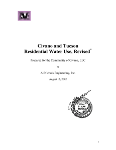 Civano and Tucson Residential Water Use, Revised *