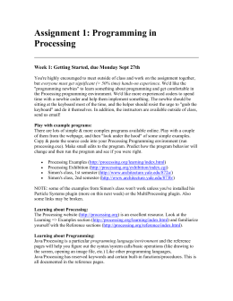 Assignment 1: Programming in Processing