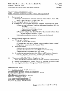 MIT 4.602,  Modern Art and Mass Culture (HASS-CI) Spring 2012 Notes