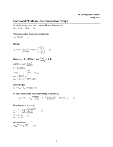 Homework : Mean-Line Compressor Design