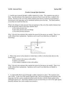 16.540 - Internal Flows Spring 2006 Practice Concept Quiz Questions
