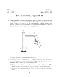 16.61 Homework Assignment #4