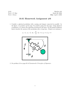 16.61 Homework Assignment #6