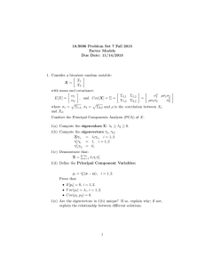 18.S096 Problem Set 7 Fall 2013 Factor Models Due Date: 11/14/2013