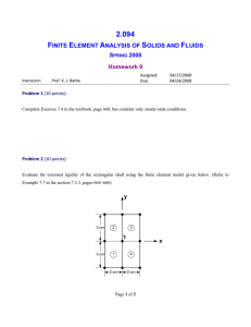 Lecture 3 - Finite element formulation for solids and structures
