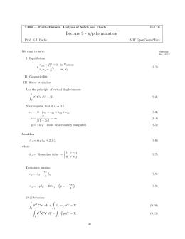 Lecture 9 - u/p formulation
