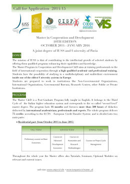 Call for Application  2014/15