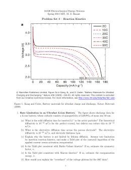 Problem  Set  3  –  Reaction ... 10.626 Electrochemical Energy Systems Spring 2014 MIT, M. Z. Bazant