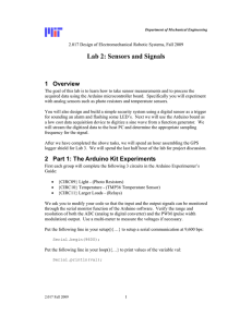 Lab 2: Sensors and Signals 1 Overview
