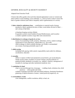 GENDER, SEXUALITY & SOCIETY HANDOUT