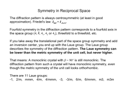 Symmetry in Reciprocal Space