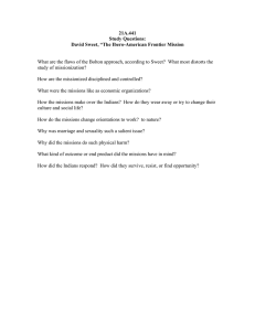 "21A.441 Study Questions: David Sweet, ""The Ibero-American Frontier Mission"