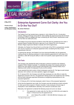 Enterprise Agreement Carve Out Clarity: Are You Introduction