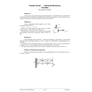 Problem Set #4 1.050 Solid Mechanics Fall 2004 (