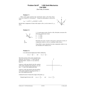 Problem Set #7 1.050 Solid Mechanics Fall 2004 (