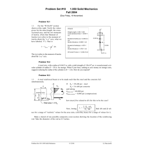 Problem Set #10 1.050 Solid Mechanics Fall 2004 (