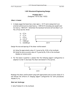 1.051 Structural Engineering Design Problem Set 3 (Assigned: 10/15; Due: 10/22)