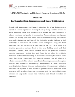 1.054/1.541 Mechanics and Design of Concrete Structures Spring 2004 Prof. Oral Buyukozturk