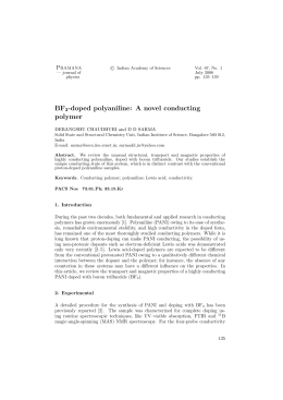 BF -doped polyaniline: A novel conducting polymer P