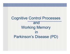 Cognitive Control Processes and Working Memory in