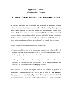 EVALUATION OF NATURAL AND MAN-MADE RISKS Application Example 2