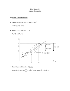Brief Notes #11 Linear Regression