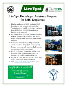 LiveYpsi Homebuyer Assistance Program for EMU Employees!