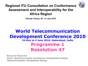 World Telecommunication Development Conference 2010 Programme 1 Resolution 47