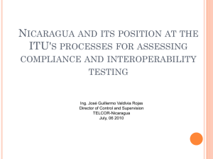 N ITU' ICARAGUA AND ITS POSITION AT THE S PROCESSES FOR ASSESSING
