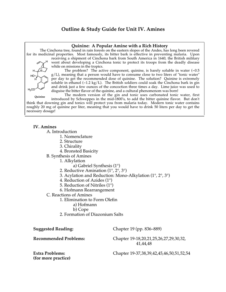 Amine Reactions Practice Problems
