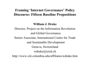 Framing 'Internet Governance' Policy Discourse: Fifteen Baseline Propositions
