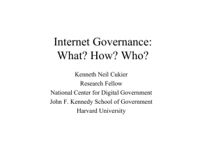 Internet Governance: What? How? Who?