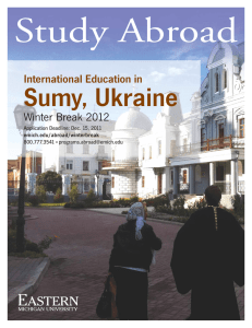 Study Abroad Sumy, Ukraine International Education in Winter Break 2012
