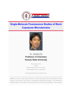 Single-Molecule Fluorescence Studies of Block Copolymer Microdomains  Dr. Takashi Ito