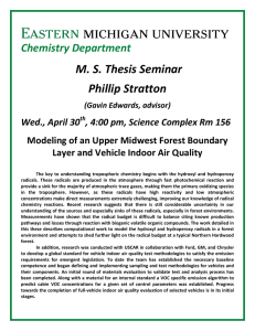 M. S. Thesis Seminar Phillip Stratton  Chemistry Department
