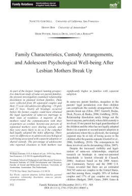 Falk p j lesbian mothers psychosocial assumptions in family law