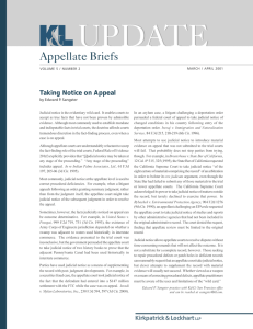 UPDATE Appellate Briefs Taking Notice on Appeal