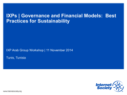 IXPs | Governance and Financial Models:  Best Practices for Sustainability