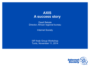 AXIS A success story