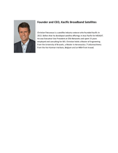 Founder and CEO, Kacific Broadband Satellites