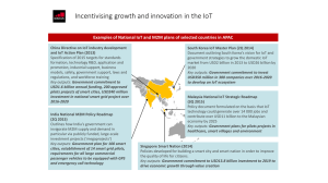 Incentivising growth and innovation in the IoT