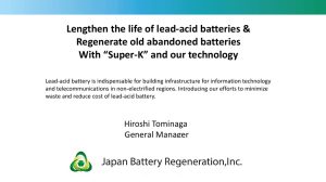 Lengthen the life of lead-acid batteries & Regenerate old abandoned batteries