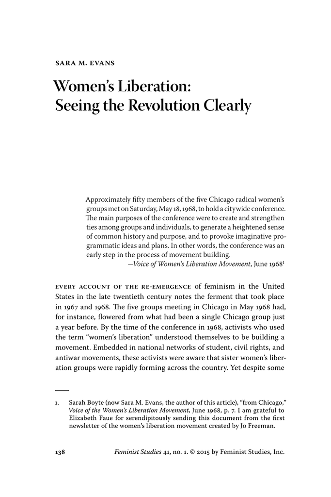Desiring Revolution: Second-Wave Feminism And The Rewriting of American Sexual Thought 1920 to 1982