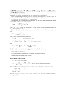 12.480  Handout  #7:  Effects  of ... Crystalline  Solution