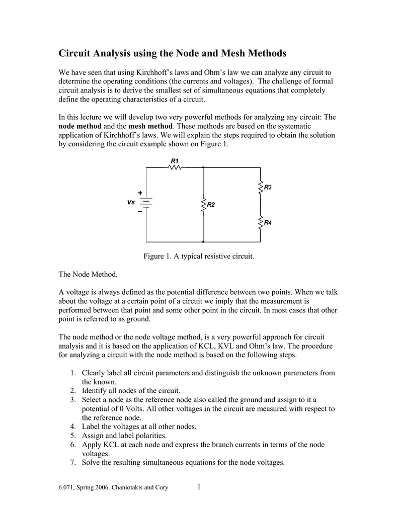 Circuit Analysis Using The Node And Mesh Methods Example Of Nodal 013507557 1 A604e2fd1251be214ab222d704ad17f9