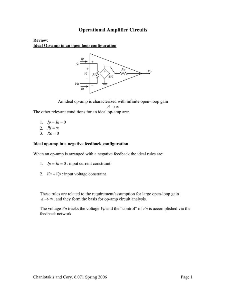 Operational Amplifier Circuits Circuit Analysis 013507576 1 F02d6dd80fae76c18cdb6464c66be34a