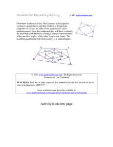 Quadrilateral Exploratory Activity
